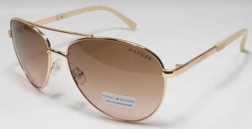 Tommy Hilfiger LINDSAY WM 0L275 Women/'s Rose Gold Frame Aviator Sunglasses NEW