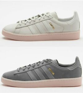 100% genuine 100% authentic really comfortable Details about ADIDAS CAMPUS SHOES WHITE BY9839,GREY BY9838 WOMENS SZ 5-11