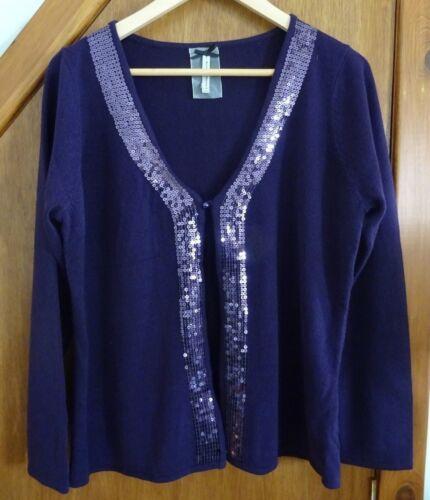16 maglia lavorato a viola Cardigan per sempre xqAHXzY