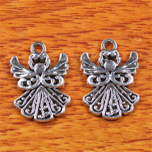 50pcs 20*14mm Charms Lovers Angel Girl Diy Jewelry Bead Making For Bracelet H036