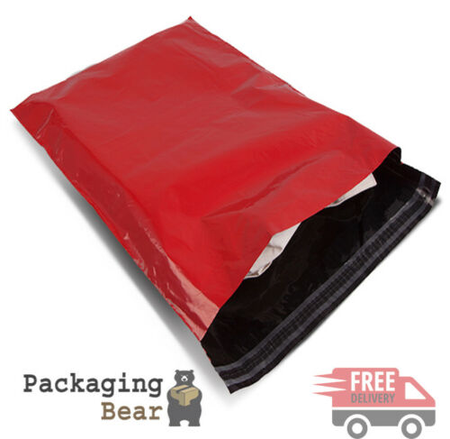 "20 x Strong RED 14x20"" Mailing Postal Poly Postage Bags 14""x20"" 355x500mm"