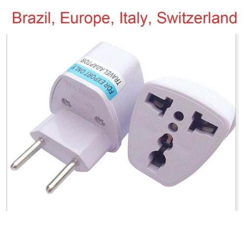 Universal Travel Power Plug Adapter TO EU ITALY SWITZERLAND Brazil europe/_gm
