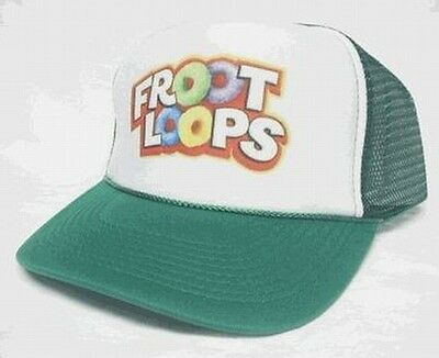 Froot Loops Cereal Trucker Mesh Hat green auction or buy it now