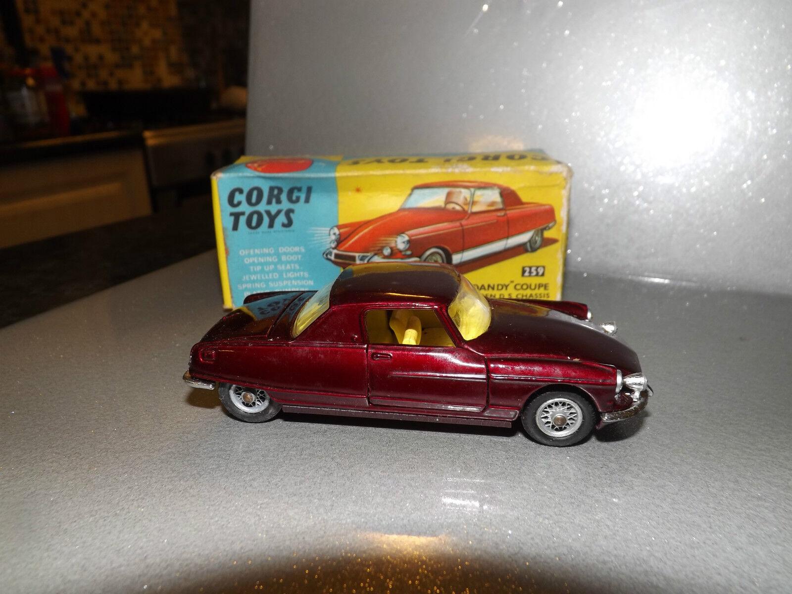 Corgi nº 259, CITROEN  le dandy  coupé sur CITROEN DS Châssis Comme neuf avec boîte