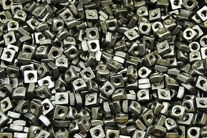 (350) Unplated 5/16-18 Square Nuts - Coarse Thread - Plain Steel