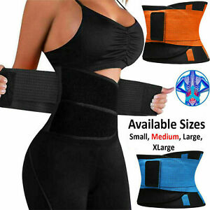 Waist Trainer Cincher Trimmer Sweat Belt Mens Women Shapewear Sport Body Shaper