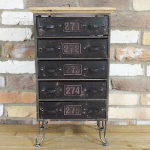 Industrial-Metal-Cabinet-5-Drawers-Storage-Cupboard-Sideboard-Chest-of-Drawers