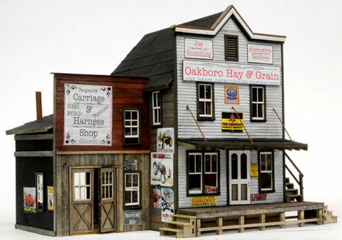 BANTA 2153 HO OAKBORO HAY GRAIN Model Railroad Building Wood Kit FREE SHIP