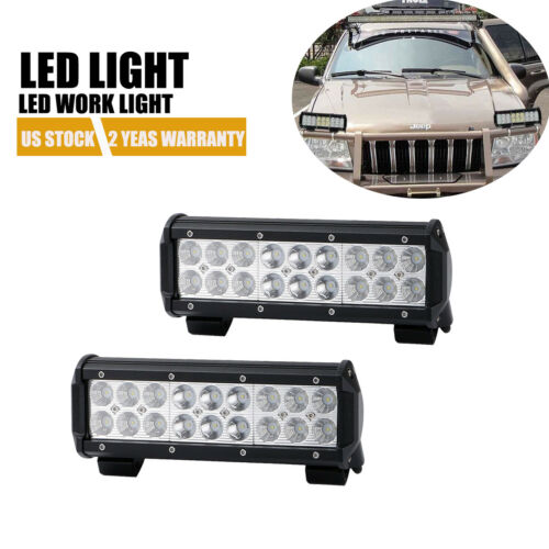 9INCH 270W LED LIGHT BAR SPOT FLOOD COMBO BEAM TRI ROW ATV SUV WORK Yamaha