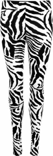 New Women Ladies Snake Leopard Zebra Giraffe Print Leggings Pants Plus Size 8-22
