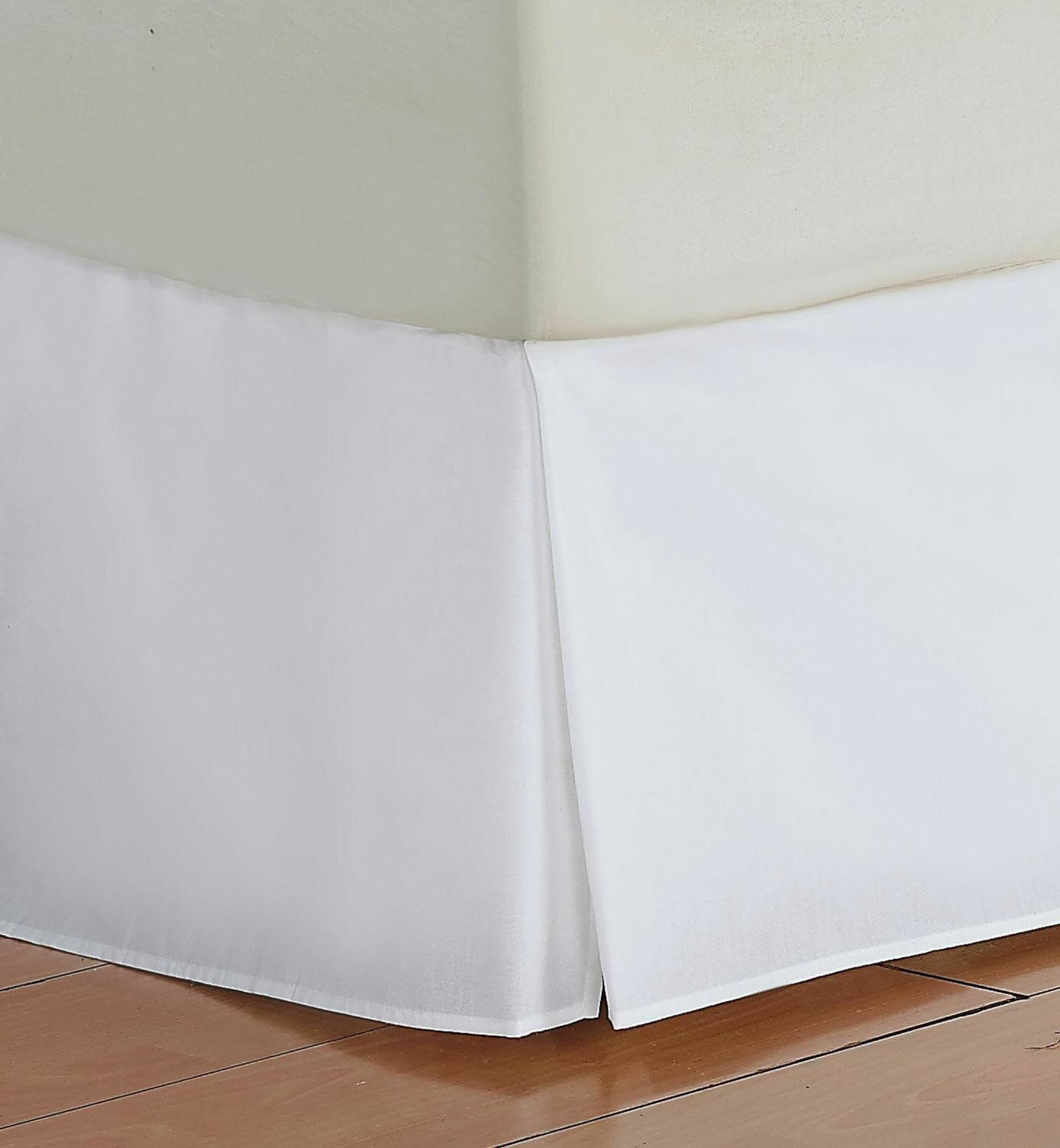 1000 TC Egyptian Cotton Drop Length 1 pc Bed Skirt White  Solid color All Sizes