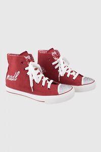 4112-Krueger-Trachten-Damen-Kinder-Schuhe-rot-Gr-35-36-38-39-40-Neu-Sneaker