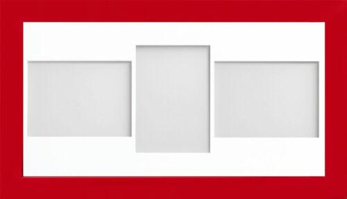 Caramelo Rojo Multi Apertura Marco de empresa Collage Foto Montaje /& Marco De Foto