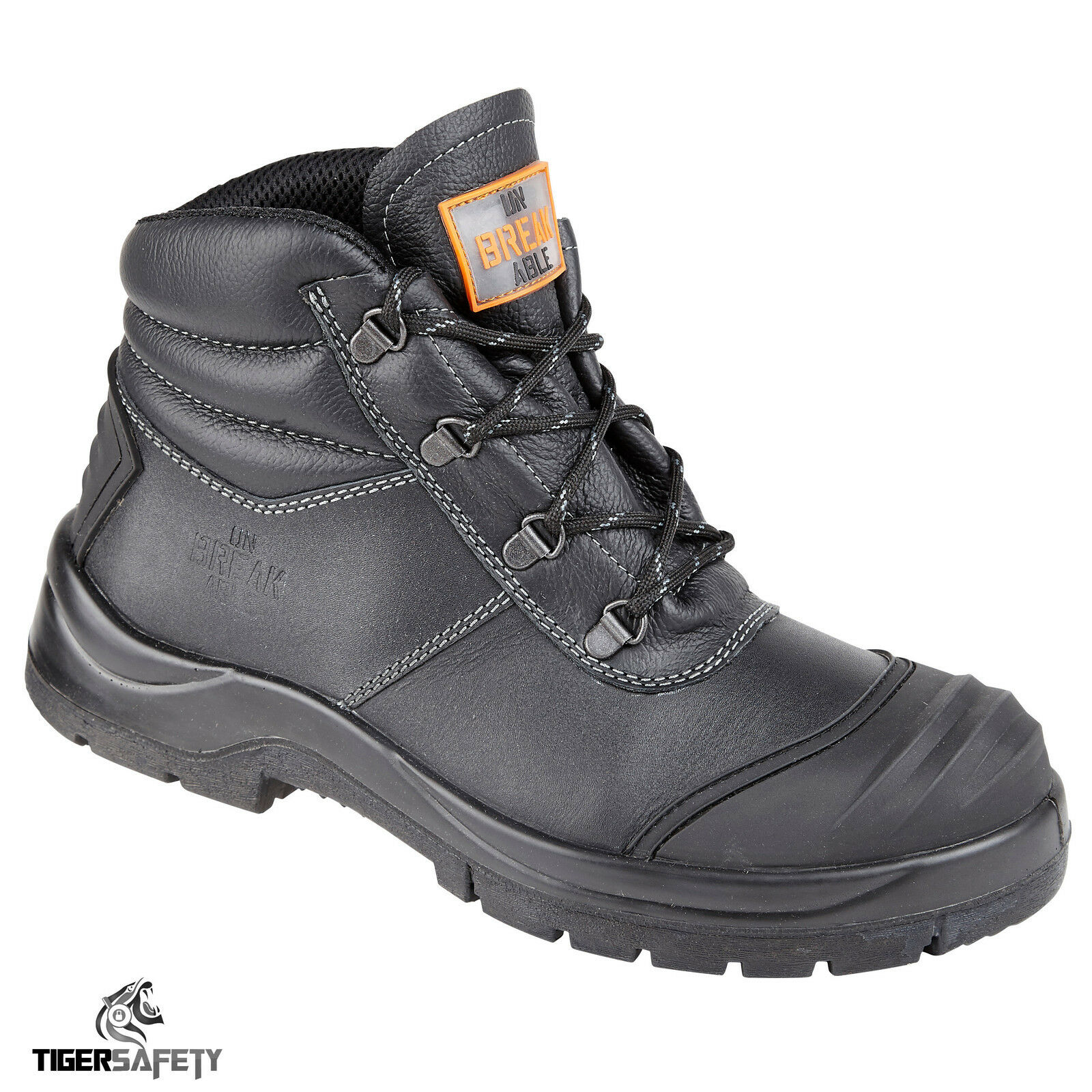 Unbreakable Renovator 8102 S3 SRC Black Safety Steel Toe Cap Chukka Safety Black Boots PPE 7679ac