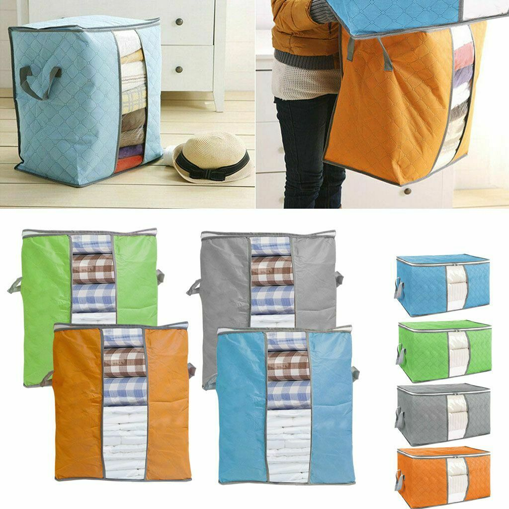US Home Quilt Clothes Storage Bag Foldable Organizer Anti Dust Space Saver Bag