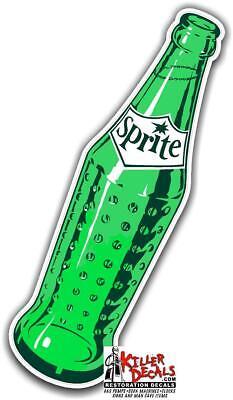 """SPRITE#3 10/""""X 7/"""" SPRITE SODA DECAL POP VENDING MACHINE COOLER"""