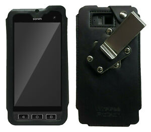 Sonim XP8 XP8800 Leather Frame Fitted Case with Quad Lock Belt Clip