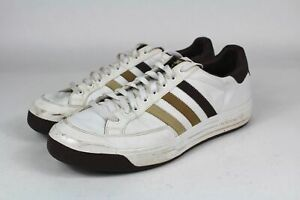good out x outlet online timeless design Details about Vintage retro sneakers ADIDAS Ilie Nastase White Triple Brown  Tennis Mens 13