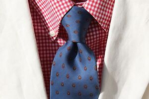 Givenchy-Paris-Vintage-Gentleman-039-s-Light-Blue-Silk-Foulard-Tie