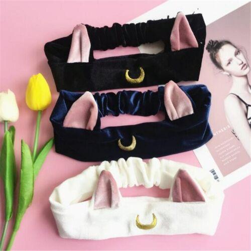 Details about  /Sailor Moon Hair Ear Head Band Women Face Washing Clean Makeup Tool Lolita
