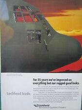 1992-93 PUB LOCKHEED AERONAUTICAL C-130 HERCULES TACTICAL AIRLIFTER ORIGINAL AD