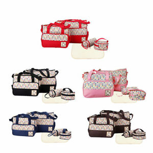Baby 4pcs Baby Nappy Changing Hospital Diaper Bags Travel Bottle Holder