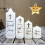 Custom Real Foil Water slide Decal Baptismal Candle Christening gift favour