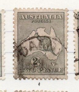 Australie 1915 Wmk. 6 Early Roo Question Fine Utilisée 2d. 204807-afficher Le Titre D'origine