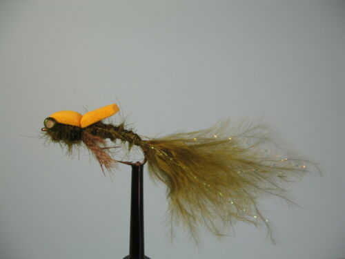3 x FOAM CRIPPLE DAMSELS  DRY TROUT FLIES size 10 14 available 12