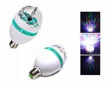 Lampada led rotante,E27.Luce RGB,ruota.Lampadina feste,discoteca,bar,pub,luci