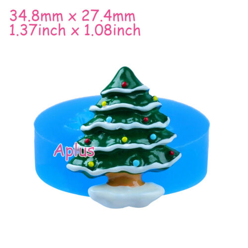JFiEB022 34.8mm Christmas Tree Silicone Mold Chocolate Candy Resin Cabochon DIY