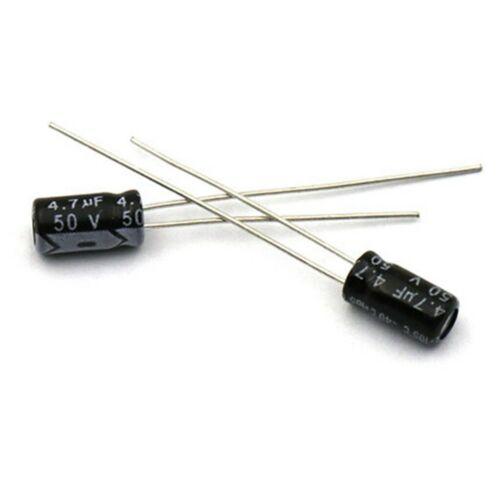 100PCS 50V 4.7uF 50 voltios condensador electrolítico 4.7MFD 4×5mm
