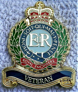 BEAUTIFUL-MILITARY-ENAMEL-BADGE-ROYAL-ENGINEERS-VETERAN-BRITISH-ARMY-REMEMBRANCE