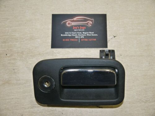 JAGUAR S-TYPE FACELIFT 2002-07 GLOVE BOX OPEN HANDLE LATCH BLACK TRIM CODE LEG