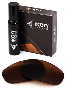 5565314e4c Image is loading Polarized-IKON-Replacement-Lenses-For-Oakley-Split-Jacket-