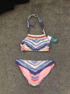 8c2232951e785 M S High Neck Bikini Top Size 10 Hipster Bottoms Size 8 BNWT ...