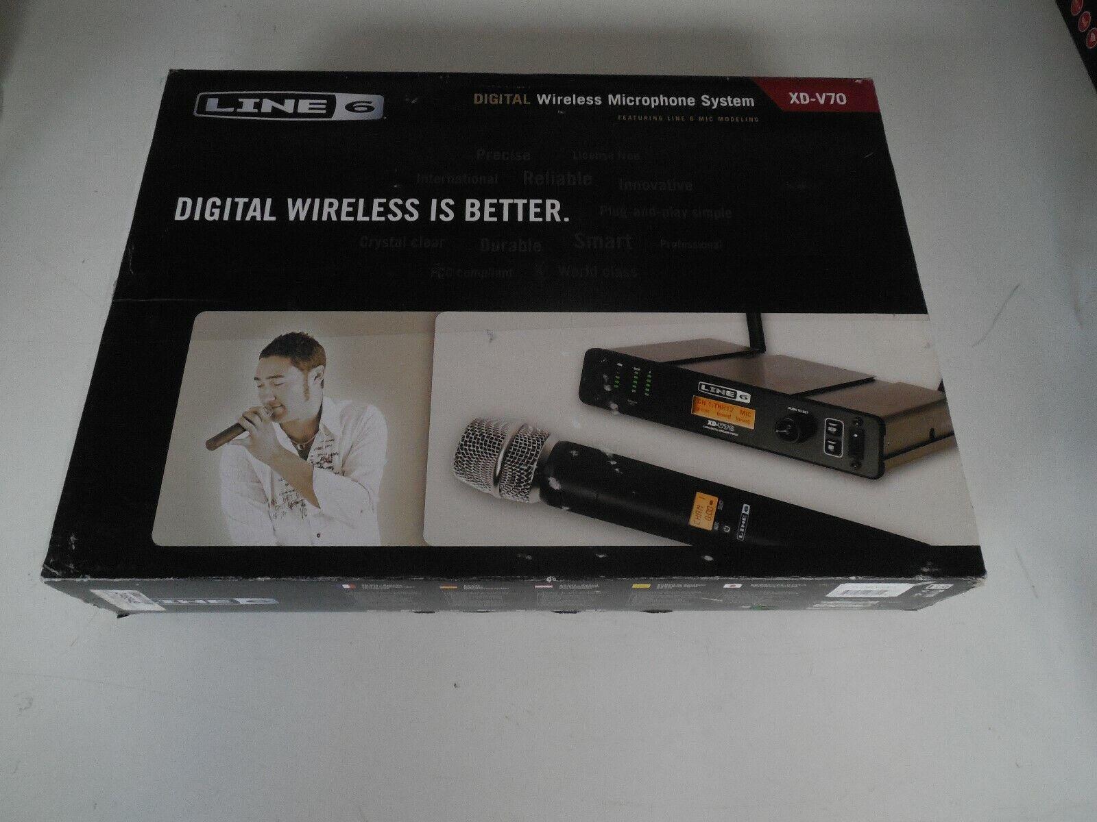 Line 6 XD-V70 , Diversity 2,4 GHz, Handsender und Empfänger 1 2 19  - OVP