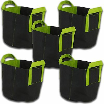 Yield Lab 5 Pack 15 Gallon Aerated Fabric Grow Pots Growing Bags With Handles 762931904382 Ebay