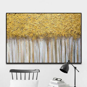 YA1458-Hand-painted-oil-painting-Golden-harvest-Modern-Decoration-art