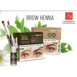 Brow Henna 3 Bottle Set Beauty Hit Eyebrow Tinting By Lash Brow New
