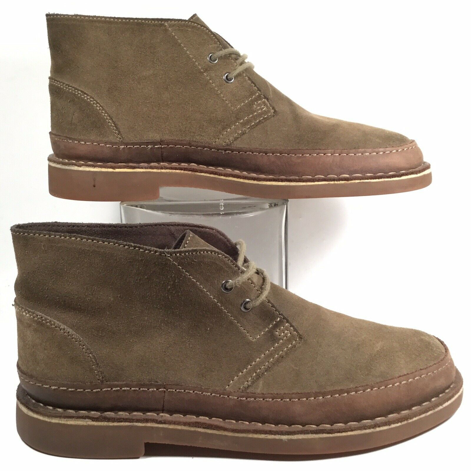 Clarks Mens Bushacre Brown Leather Lace Up Desert Chukka Ankle Boots US 8.5 M