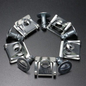 5-Sets-Engine-Undertray-Clips-Shield-Bottom-Cover-Fastener-Metal-For-Passat-Audi