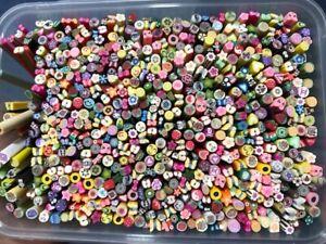 100-pcs-of-Mix-Fimo-3D-DIY-Nail-Art-Decoration-Cane-Manicure-Polymer-Clay-Sticks