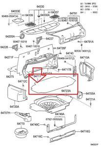 1995 2000 Lexus Ls400 Trunk Luggage Compartment Lower Floor Mat Carpet Oem New Ebay
