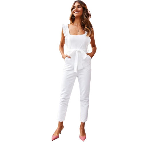 Womens Ladies Sleeveless Lounge Wear Tracksuit Jumpsuit Casual Comfy Playsuit