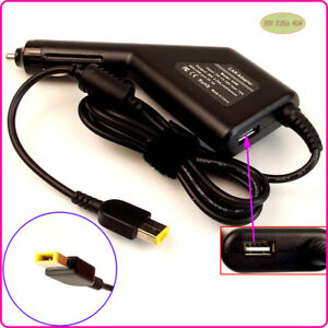 Laptop DC Adapter Car Charger USB Power for Lenovo Thinkpad ADLX45DLC3A
