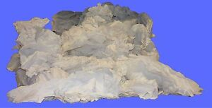 Rags White Sheeting - Cut 15 X 15 Recycled 25 lbs