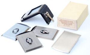 4x Rollei PLANGLAS-Kassetten & Rückwand für Rolleiflex Automat = TOP & CLEAN !!!