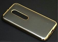 Luxury MOTOROLA(MOTO G 3rd gen) slim Electroplated Gold Transparent back cover