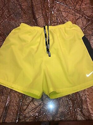 Nikerunning Men's Sz M Lined Running Shirts W/built In Briefs ~neon Yellow~ To Have Both The Quality Of Tenacity And Hardness Activewear Bottoms